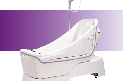 Sentes reclining assistive bath from Gainsborough
