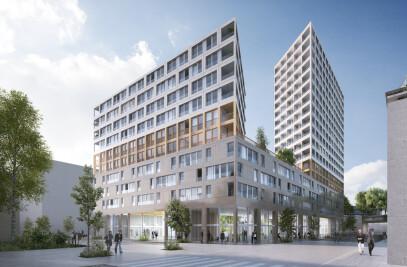 Bac d'Asnières Mixed-use building