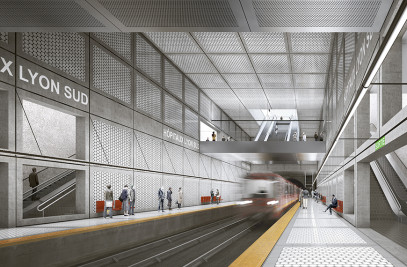 Hôpital Lyon Sud Metro Station