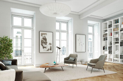 Interior architectural visualizations of a building in Lisbon