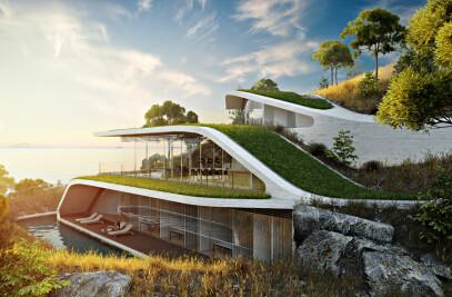 Futuristic 3D Architectural Design