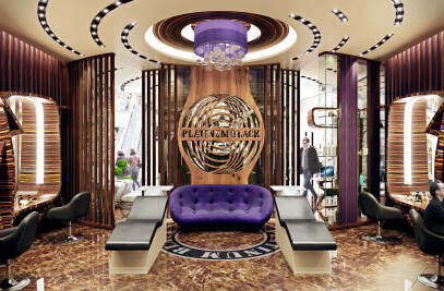 Dark brown and purple in the interior: 3D Visualization