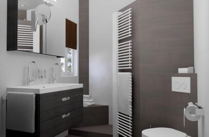 Small Bathroom in 3D design