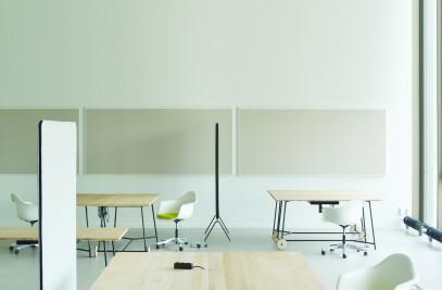 desk and divider