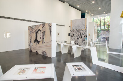"Exhibition Design for ""L'OUVRE 9: Open the Louvre's 9th Art Comic Collection"""
