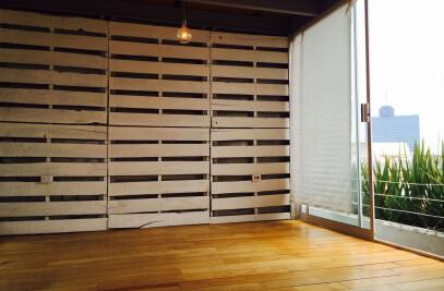LOFT NÁPOLES - departamento hecho con materiales reciclados