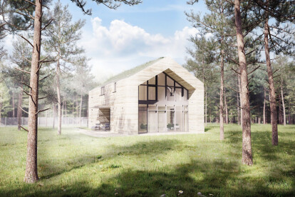 Single-family house in forest