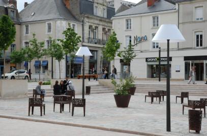 Le salon urbain de la place Rougé à Cholet
