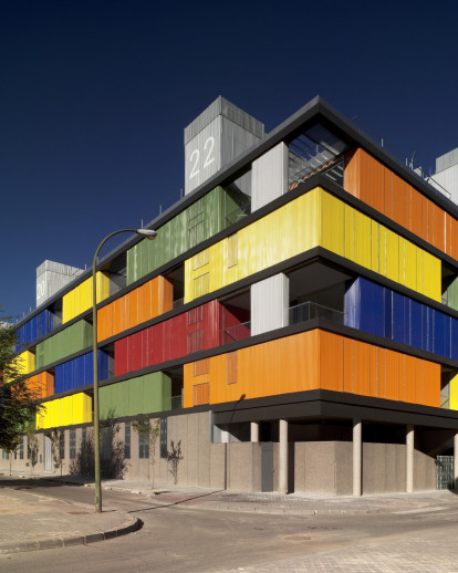 82 State subsidized housing building in Carabanchel, Madrid
