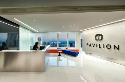 Monochrome tones, light and shadow for Pavilion Financial Corporation
