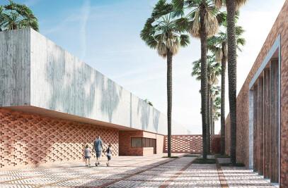 3D rendering of a school in Tunis