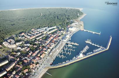 Multipurpose center in harbour area in Hel .
