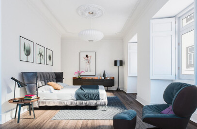 Architectural rendering apartment in Lisbon