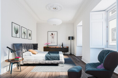 Architectural rendering of an apartment in Lisbon