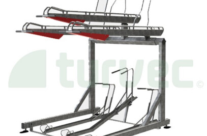 2ParkUp two-tier cycle rack