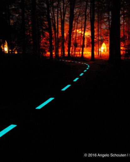 Utrechtse Heuvelrug heeft glow in the dark fietspad | FloWithDGlow