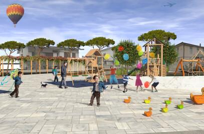 New square for Stabbia (Cerreto Guidi)