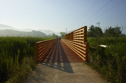 "Cycling & pedestrian track ""Lotus Flower"""