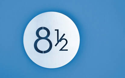modern house numbers: plaque