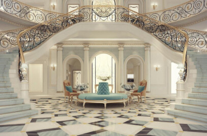 Exploring Luxurious Homes : Grand Lobby Interior D