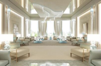 Luxury Living Room Design in Unspeakable Charm