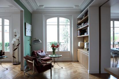 Custom made shelves in oak