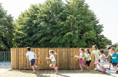 THE COVERED GARDEN - Extension of the Recordati Kindergarten