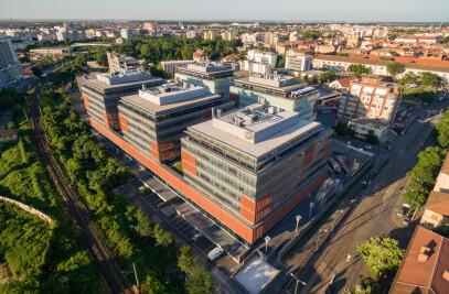 City Business Centre Timisoara - final ensemble ( C-D-E buildings and public space)