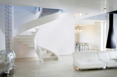Cement Spiral Staircase
