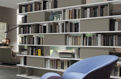 Double sided Domino Bookcase