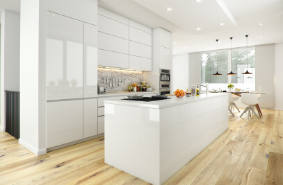 LIVING, COOKING AND DINING AREA 3D VISUALIZATION