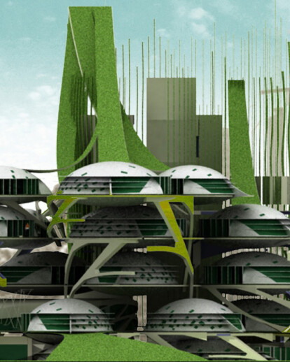 Inhabiting the urban lungs green building