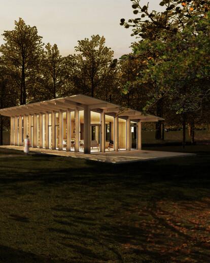 Pavillon dans les bois