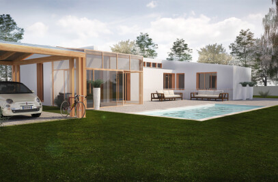 House in countryside type B