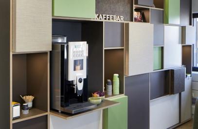 Coffee bar in Jyske Bank