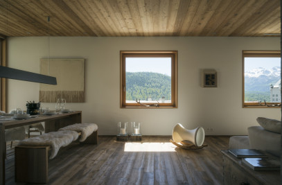 Mountain refuge with a view