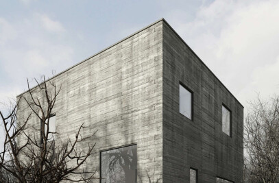 the concrete cube house