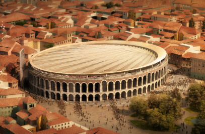 A new roof for Verona's historic arena