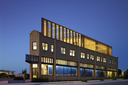 As one leaves downtown the PLICO building acts as a lantern to the city energy