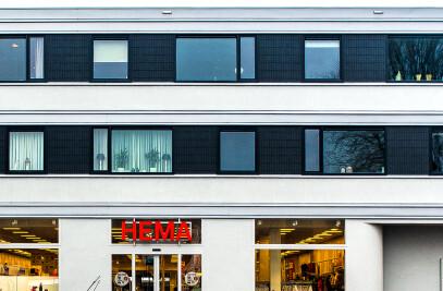 HEMA shop and apartments