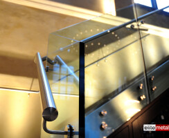 Galvin Restaurant - Straight Staircase, toughened glass balustrade