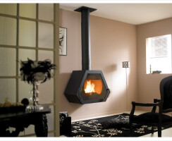 Fireplace decorated European-style house