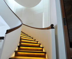 The Little Boltons - Elliptical, Helical Contemporary Staircase