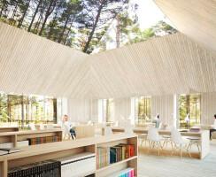Architectural rendering of the Arvo Pärt Centre