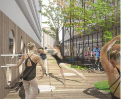 Connecting Alley/Outdoor Ballet Rehearsal Space