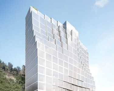 Architectural rendering of an office building in Beirut