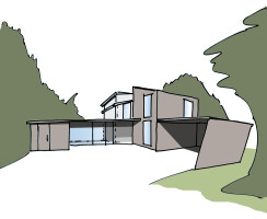 Artist Impression of new Entrance, Extension and Carport