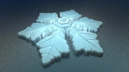 The floating snowflake hotel | waterstudio nl | Archello
