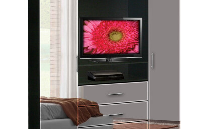 Aventa TV Armoire Mirrored Fronts