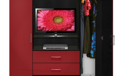 Aventa Armoire Red Open